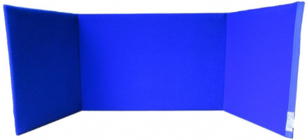 Portable Choice / Display Board A2 Landscape - Blue